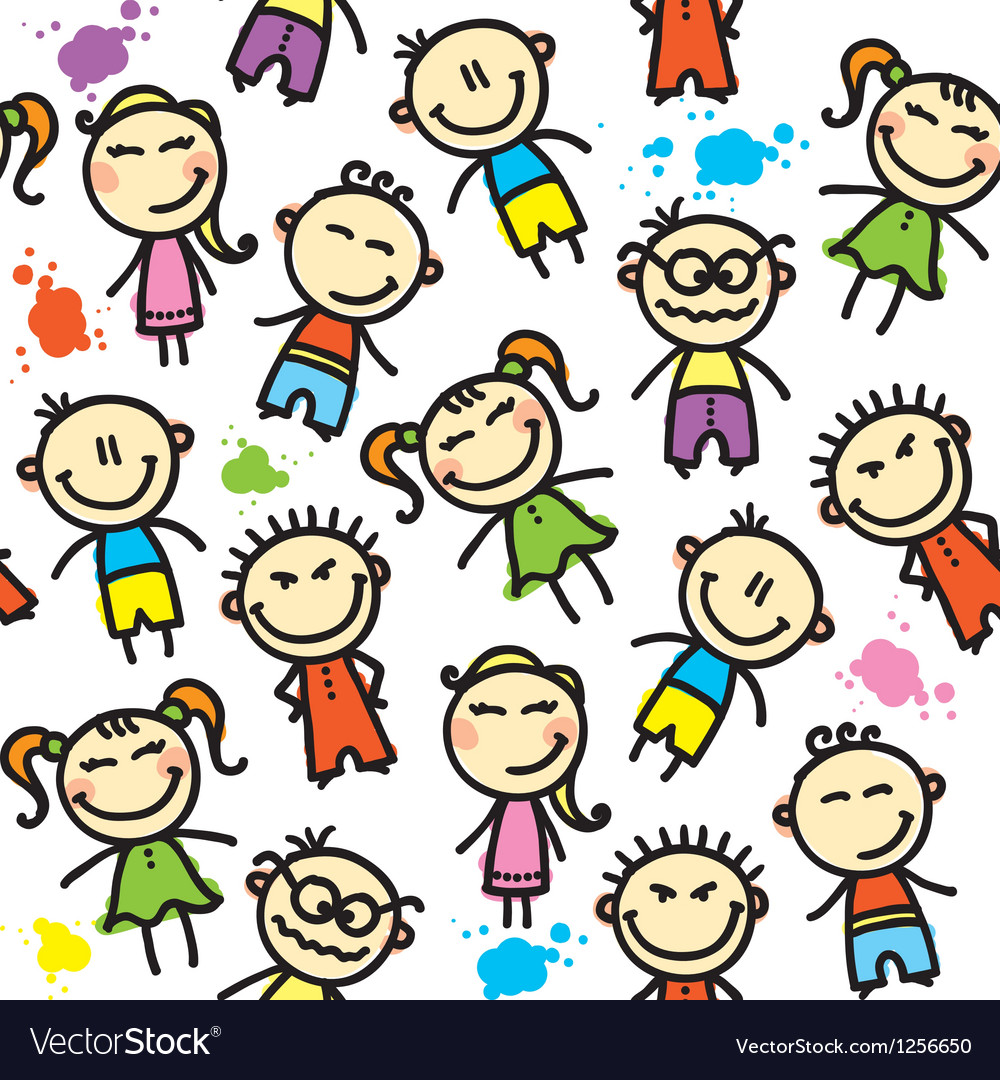 Kid pattern vector | Price: 1 Credit (USD $1)