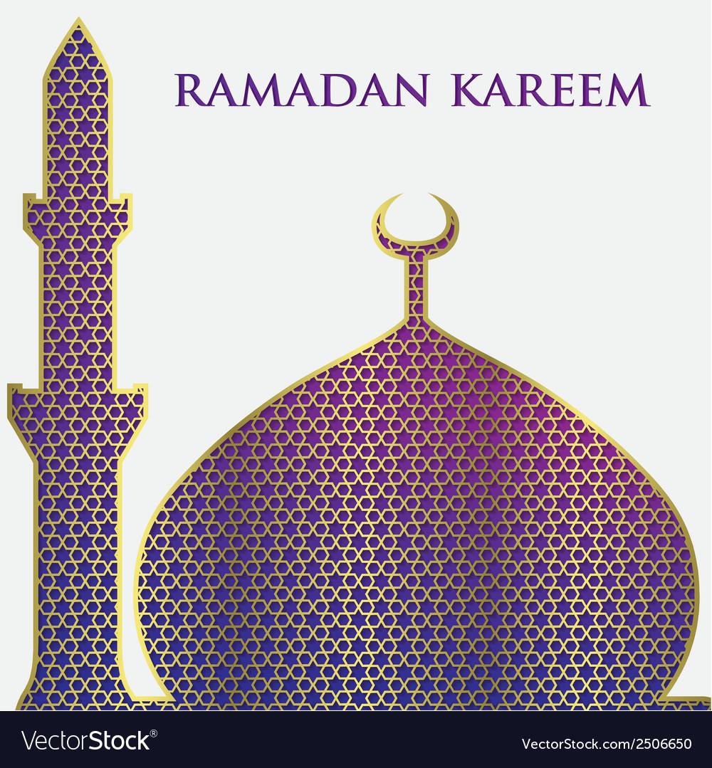 Ramadan background design vector | Price: 1 Credit (USD $1)