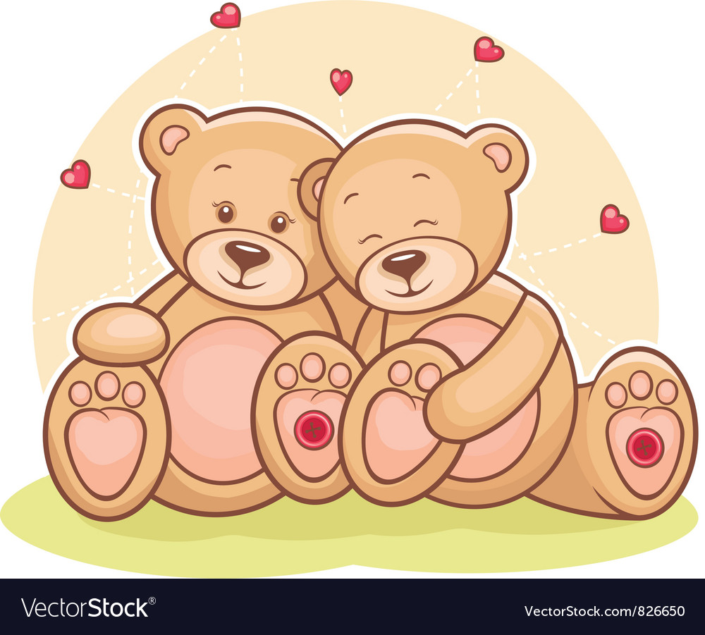 Teddy bear love vector | Price: 1 Credit (USD $1)