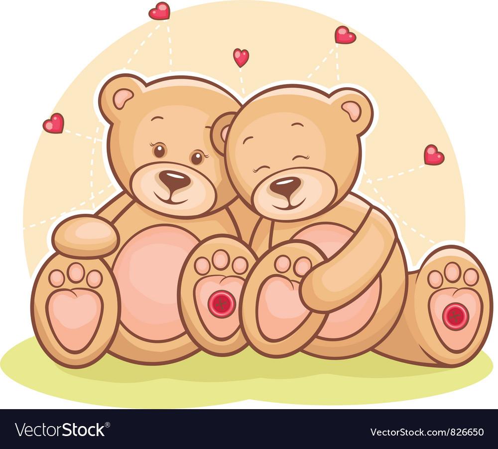Teddy bear love vector | Price: 1 Credit (USD $1)