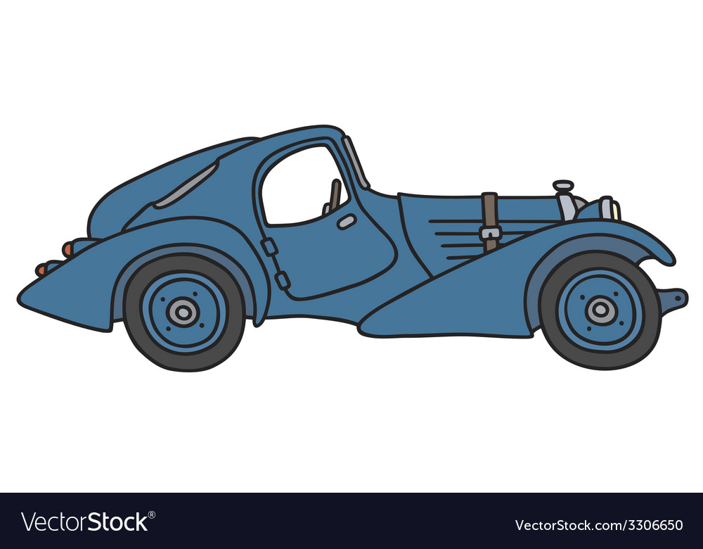 Vintage coupe vector | Price: 1 Credit (USD $1)