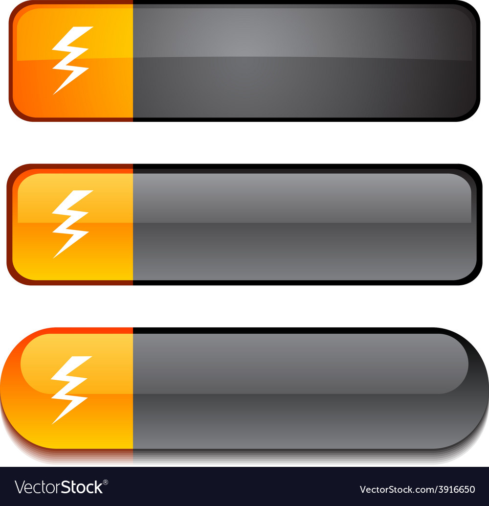 Warning button set vector | Price: 1 Credit (USD $1)