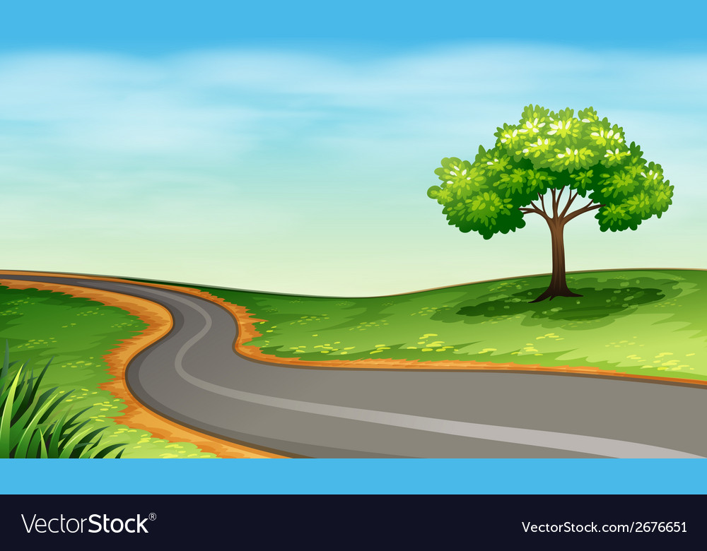 A narrow road vector | Price: 3 Credit (USD $3)
