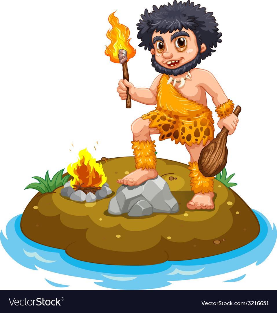 Caveman vector | Price: 3 Credit (USD $3)