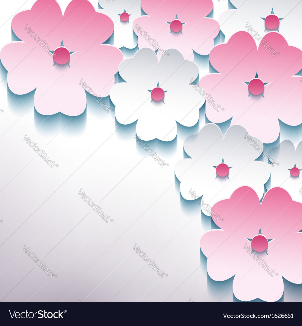 Floral abstract stylish background with 3d flower vector | Price: 1 Credit (USD $1)