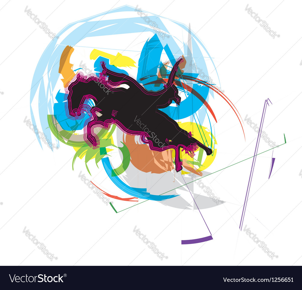 Horse running vector | Price: 1 Credit (USD $1)