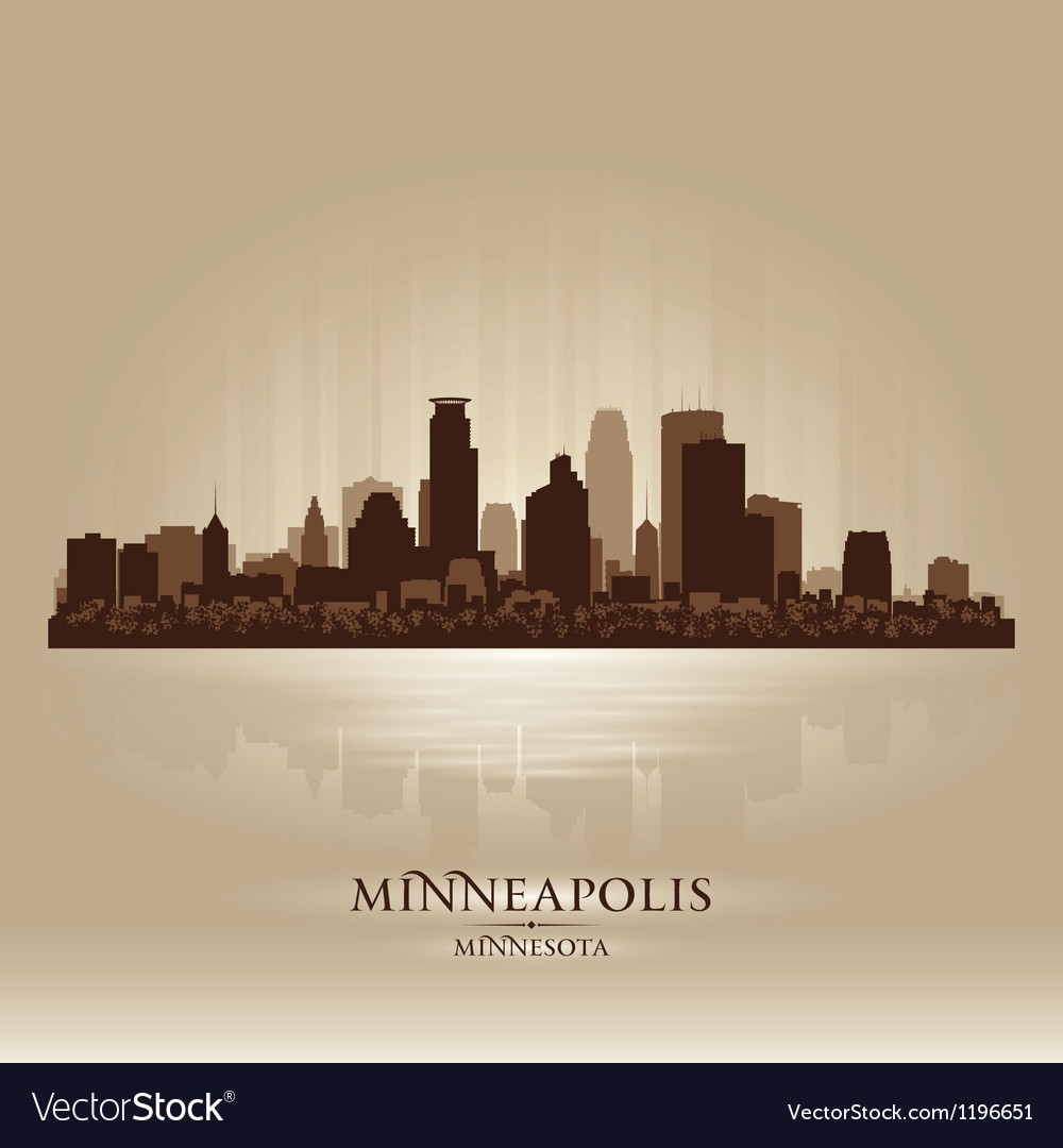 Minneapolis minnesota skyline city silhouette vector | Price: 1 Credit (USD $1)