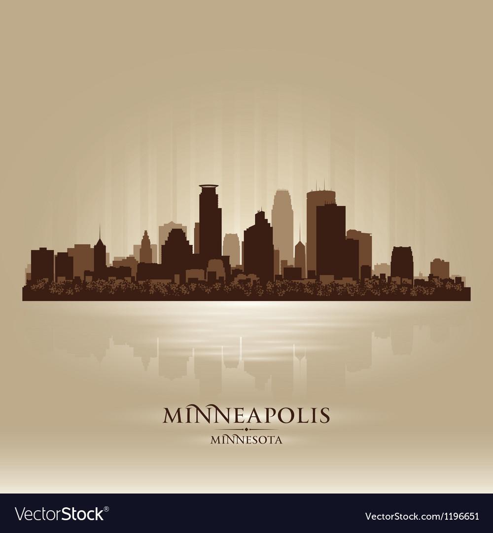 Minneapolis minnesota skyline city silhouette vector | Price: 1 Credit (USD $1)