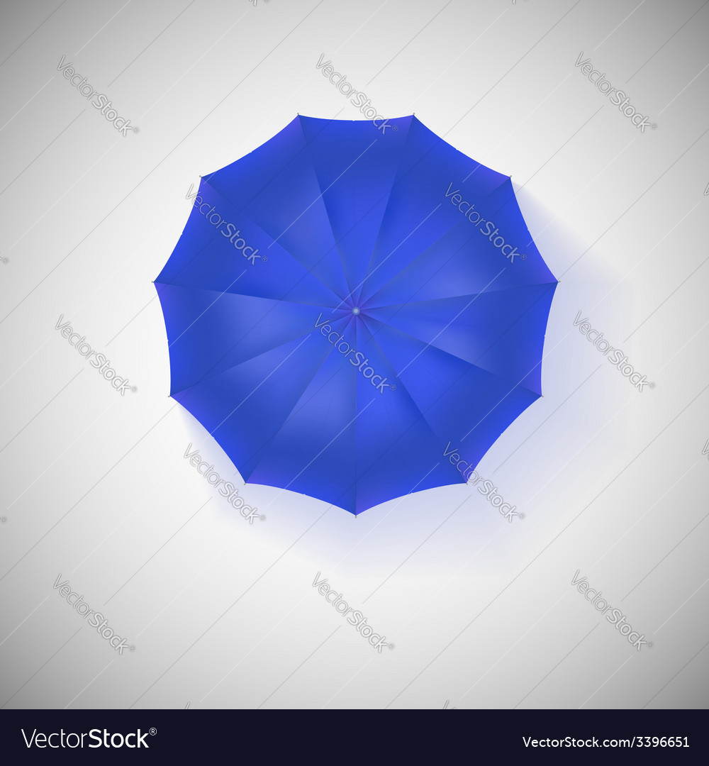 Opened blue umbrella top view closeup vector | Price: 1 Credit (USD $1)
