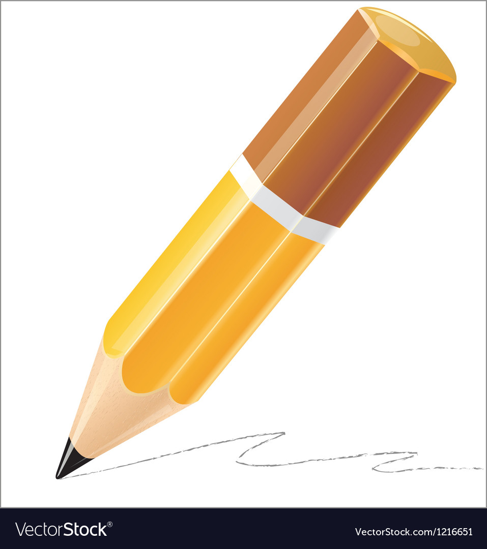 Pencil isolated detailed vector | Price: 1 Credit (USD $1)