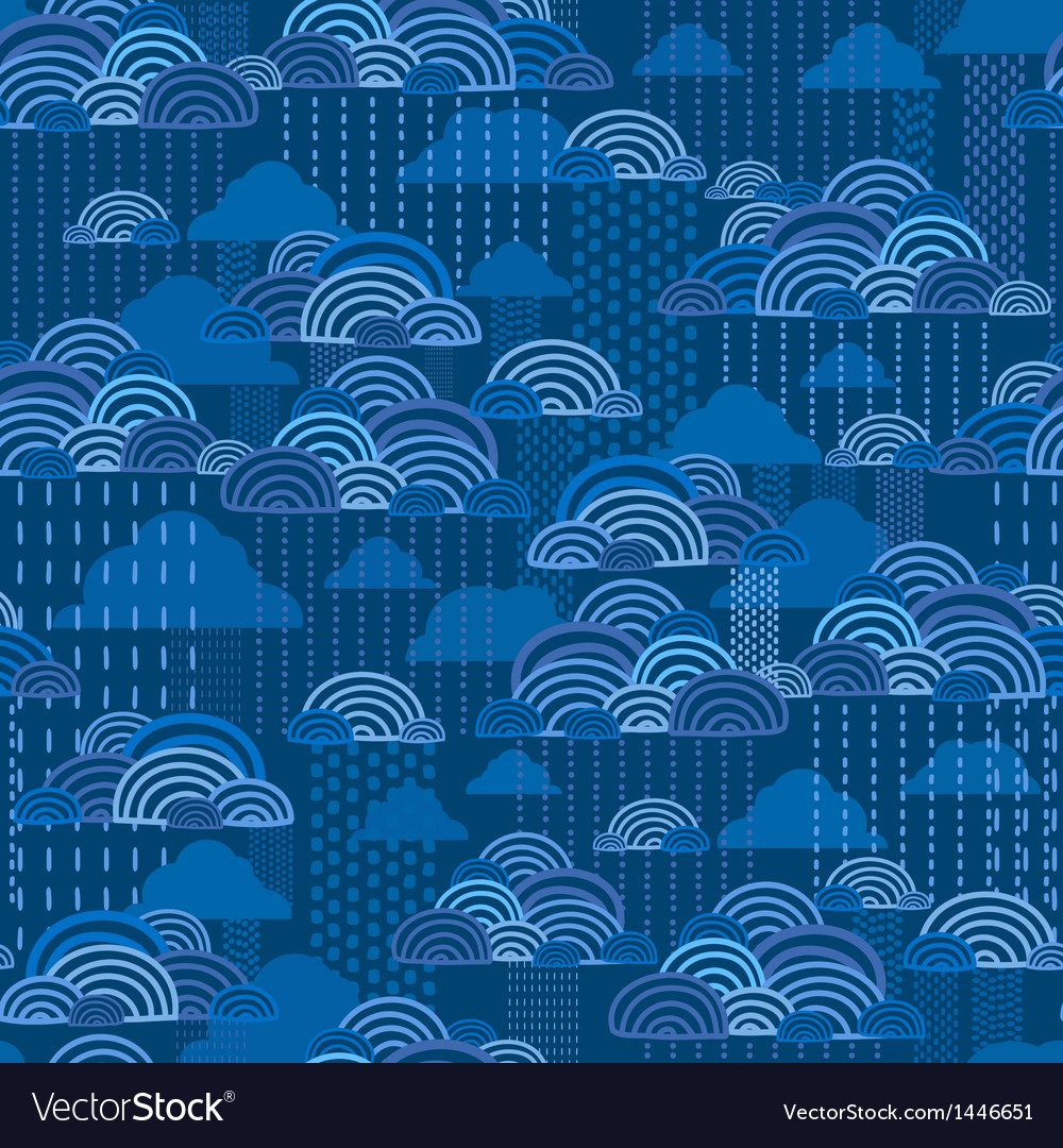 Rain clouds seamless pattern background vector | Price: 1 Credit (USD $1)
