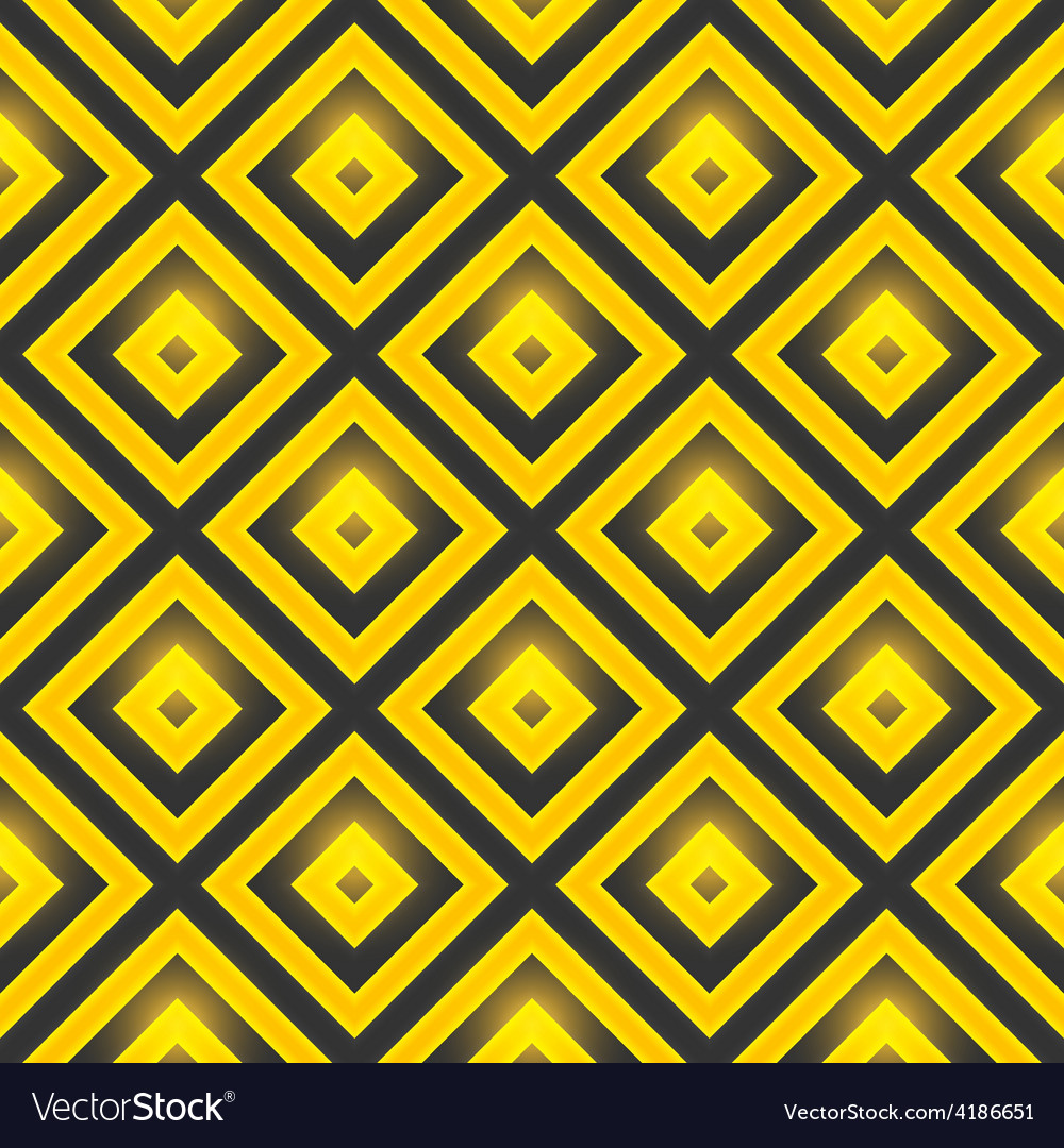 Seamless pattern with golden squares vector | Price: 1 Credit (USD $1)