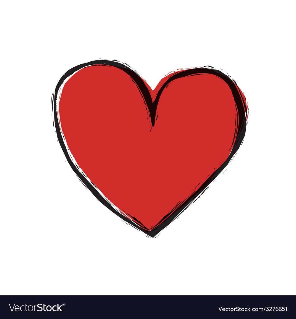 Simple heart symbol vector | Price: 1 Credit (USD $1)