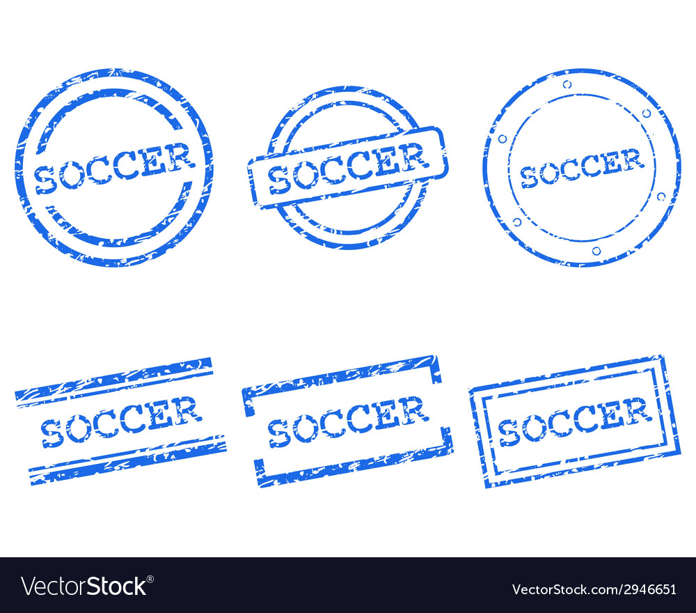 Soccer stamps vector | Price: 1 Credit (USD $1)