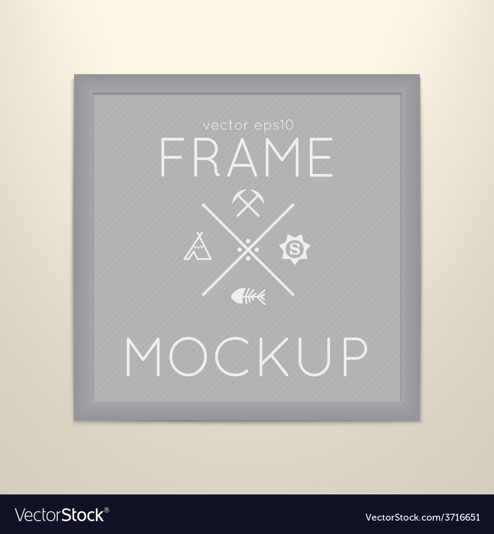 Template of square frame with poster vector | Price: 1 Credit (USD $1)
