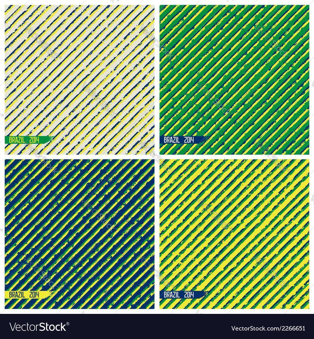 Textured brazil grunge background vector | Price: 1 Credit (USD $1)