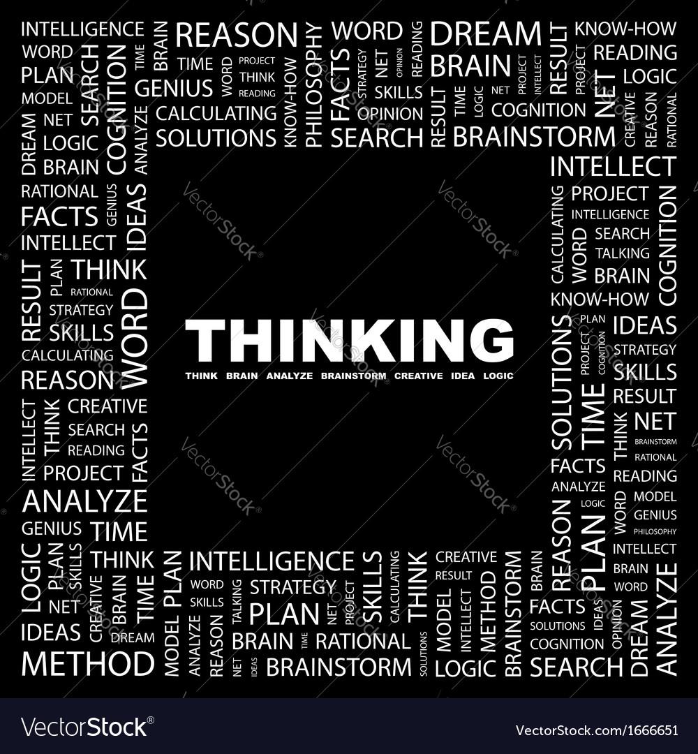 Thinking vector | Price: 1 Credit (USD $1)