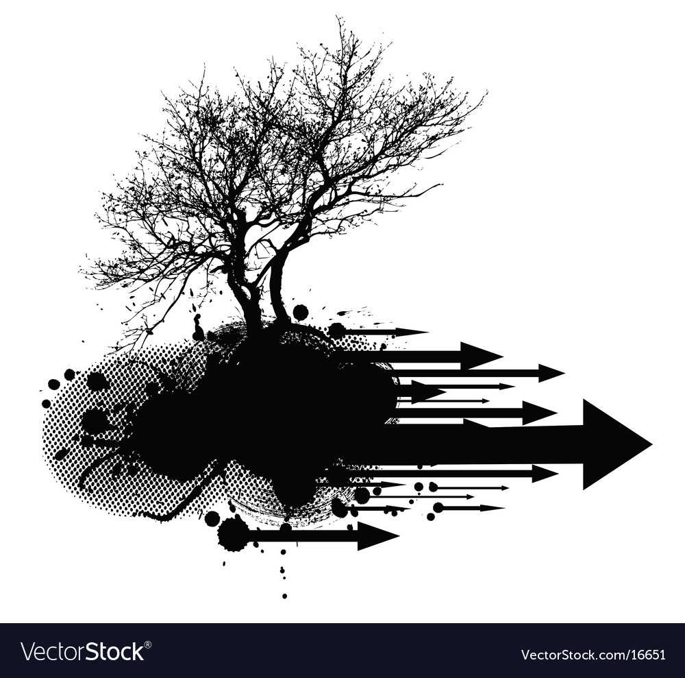 Tree silhouette element vector | Price: 1 Credit (USD $1)