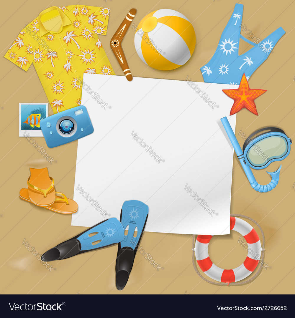 Beach concept vector | Price: 1 Credit (USD $1)