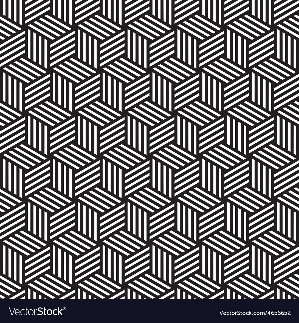 Bold cube pattern background black white vector | Price: 1 Credit (USD $1)