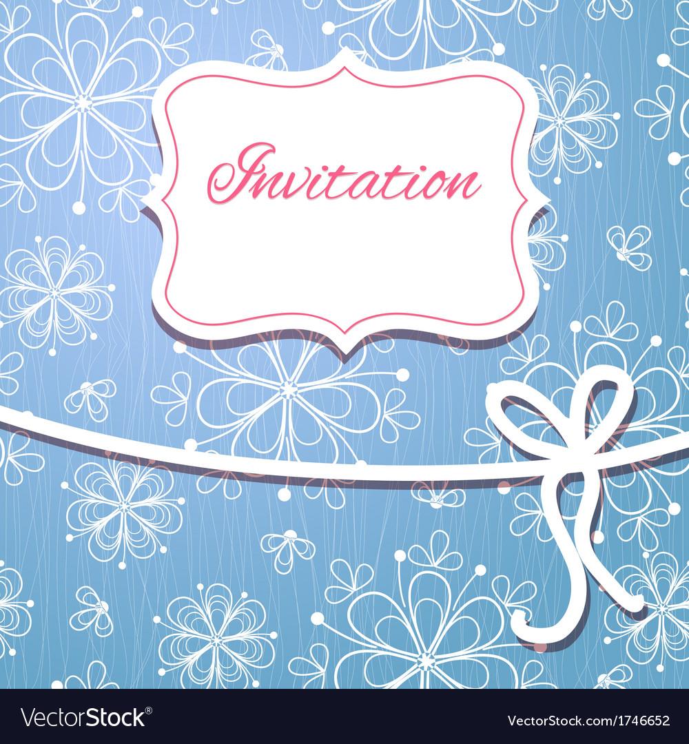 Christmas invitation card vector   Price: 1 Credit (USD $1)