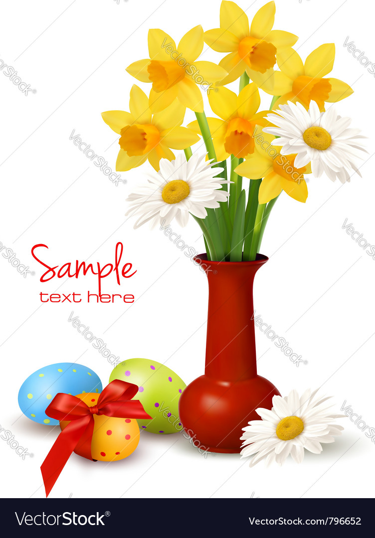 Easter floral background vector | Price: 1 Credit (USD $1)