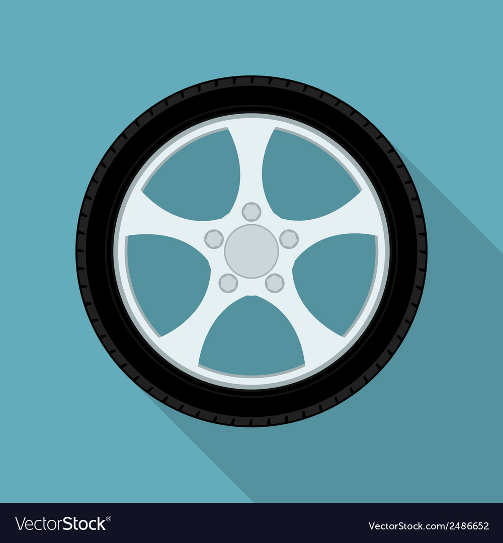 Flat wheel vector | Price: 1 Credit (USD $1)
