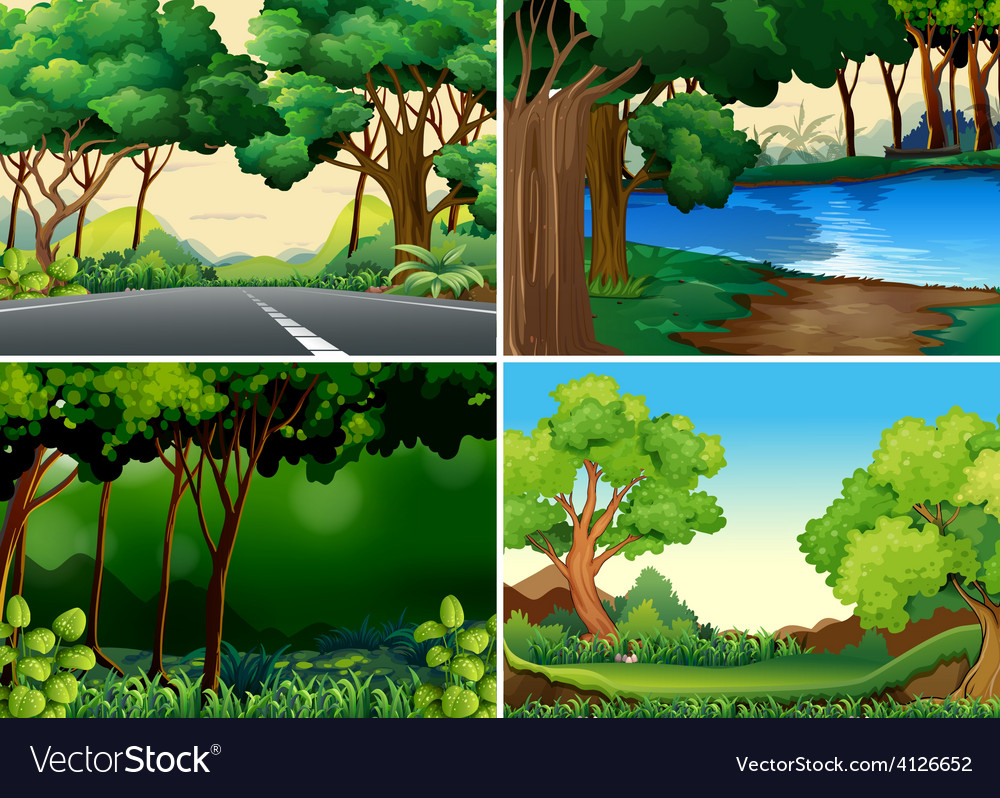 Forests vector | Price: 3 Credit (USD $3)