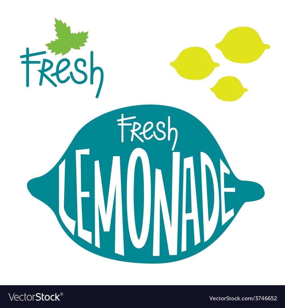 Fresh lemonade set vector | Price: 1 Credit (USD $1)