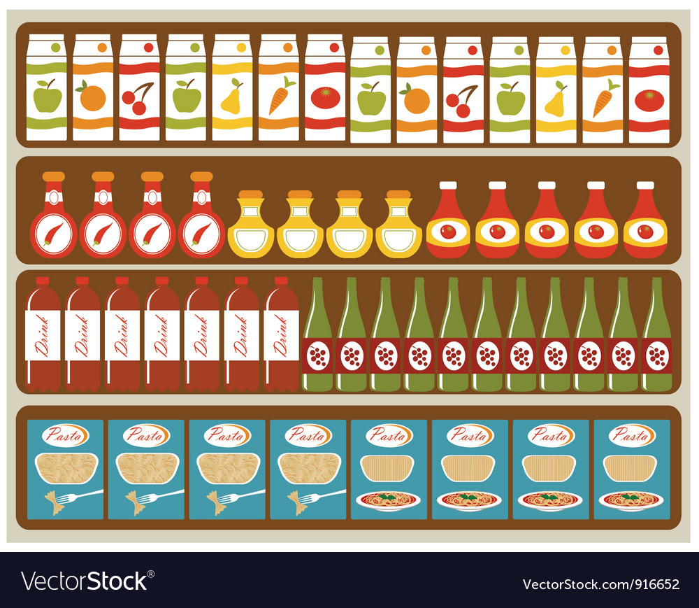 Grocery store vector | Price: 3 Credit (USD $3)