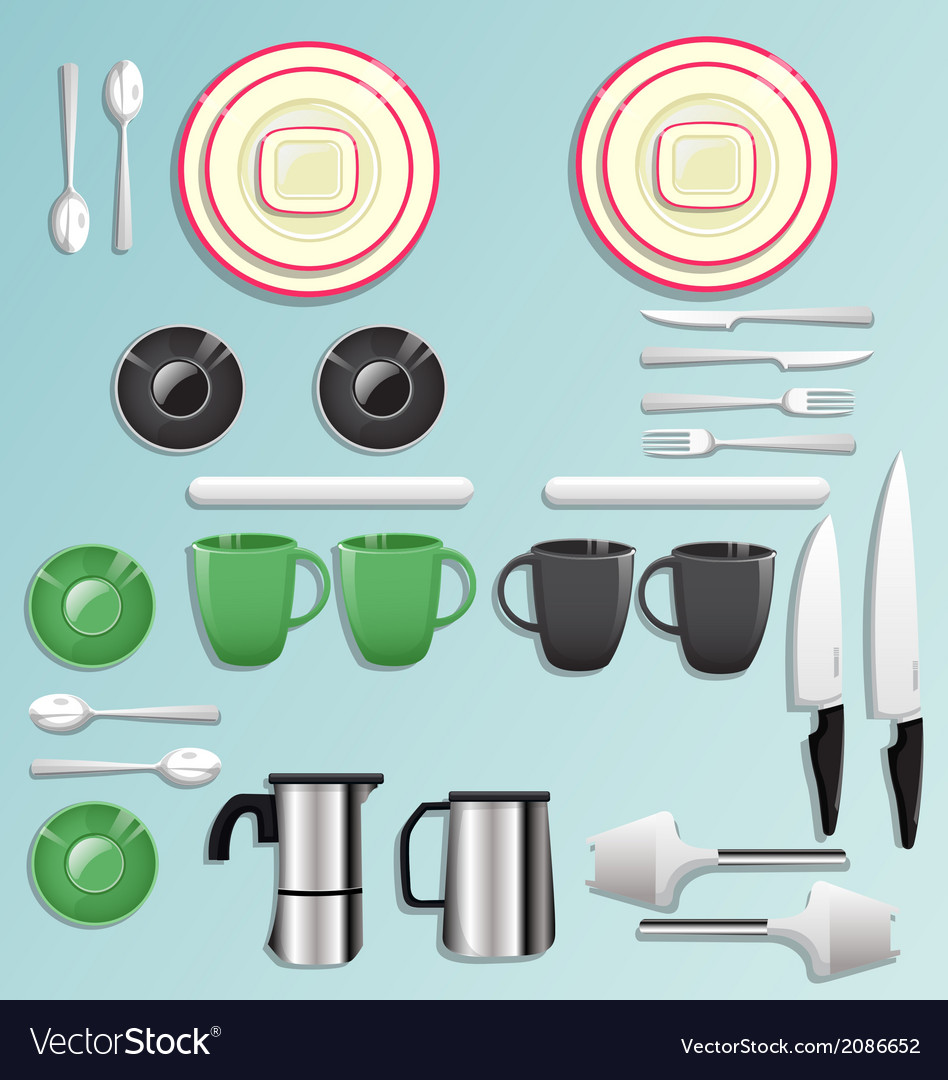 Kitchen equipment and tool icon set vector | Price: 1 Credit (USD $1)