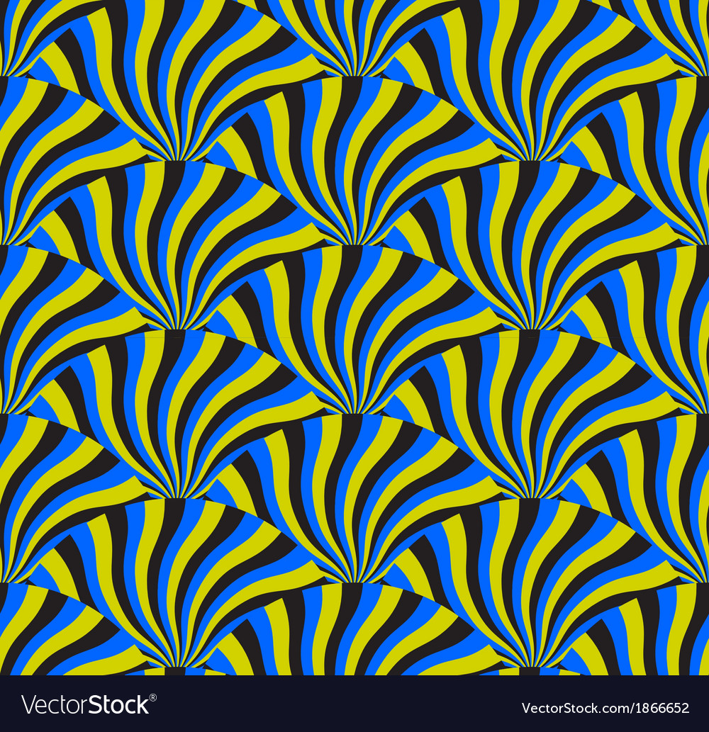 Optical spin cycle seamless pattern vector | Price: 1 Credit (USD $1)