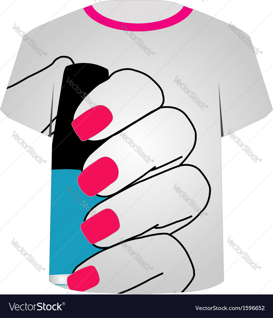Printable tshirt graphic- painted nails vector | Price: 1 Credit (USD $1)