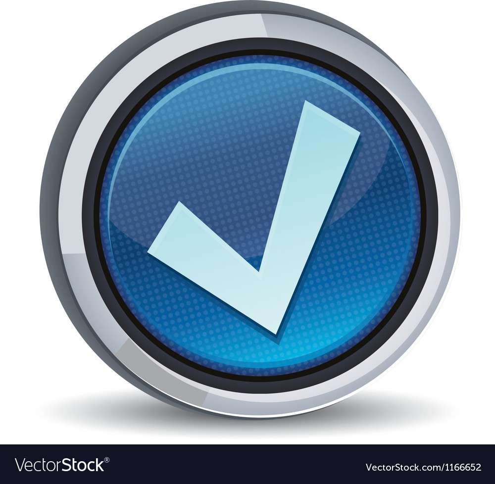 Round button with tick sign vector | Price: 1 Credit (USD $1)