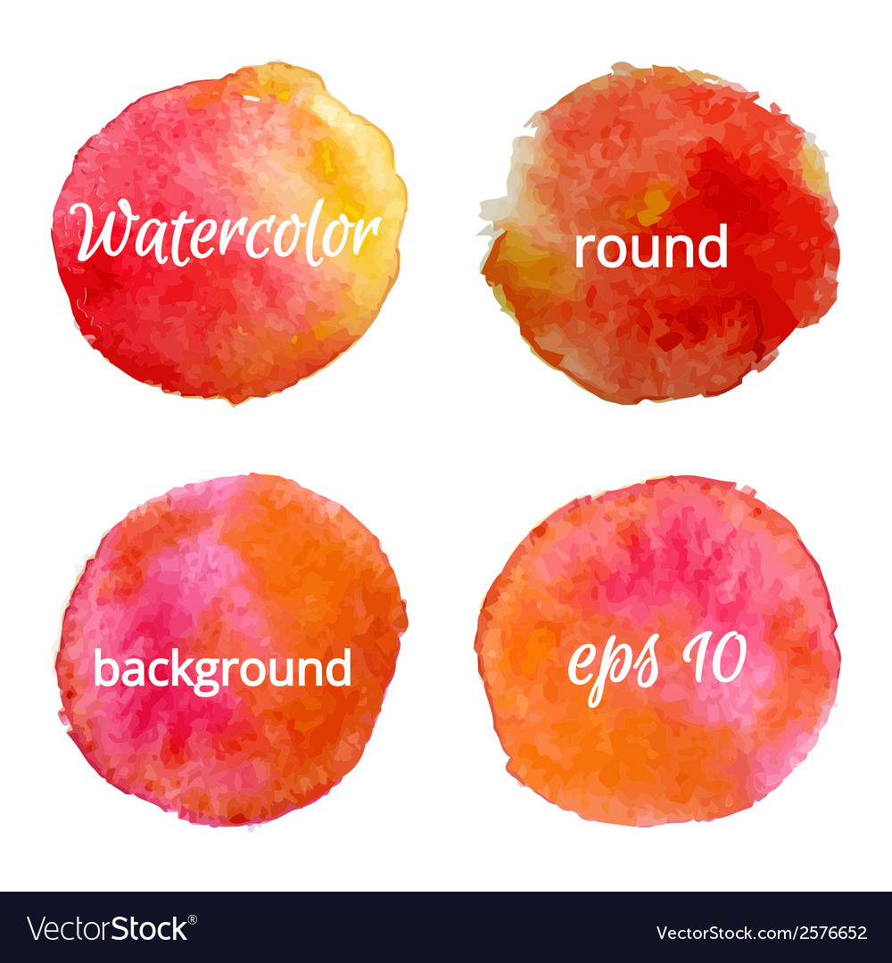 Round water color backgrounds vector   Price: 1 Credit (USD $1)