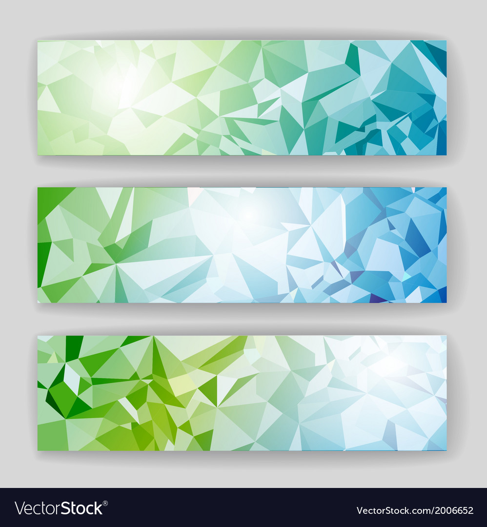 Set of banners with geometric background vector | Price: 1 Credit (USD $1)