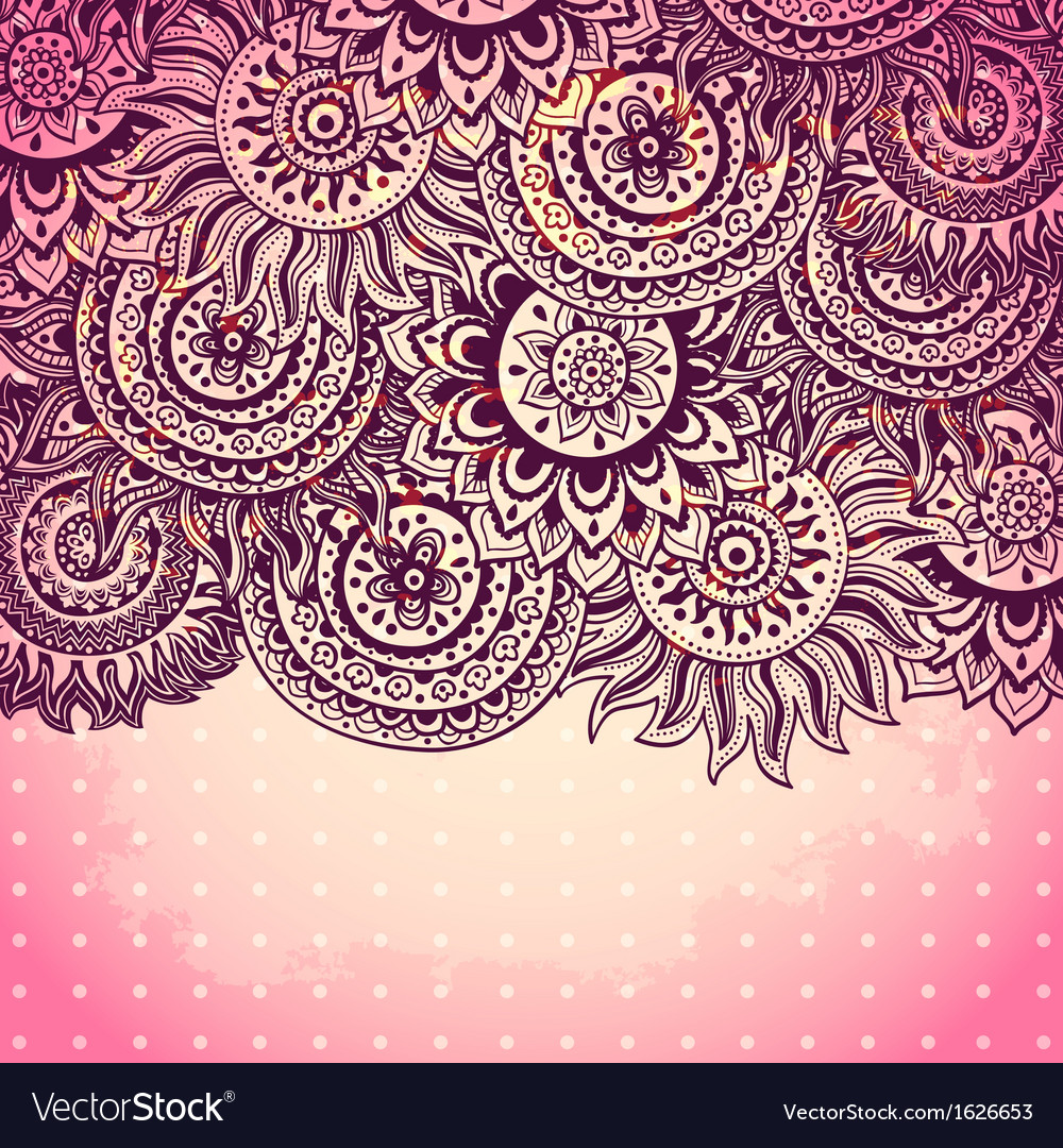 Beautiful vintage ornament vector | Price: 1 Credit (USD $1)