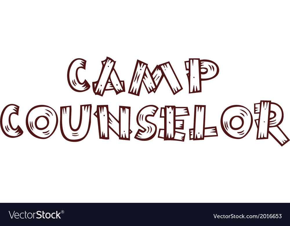 Camp counselor -on alpha background vector | Price: 1 Credit (USD $1)