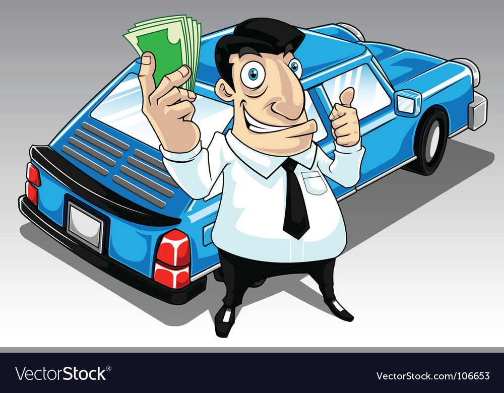 Car salesperson vector | Price: 3 Credit (USD $3)