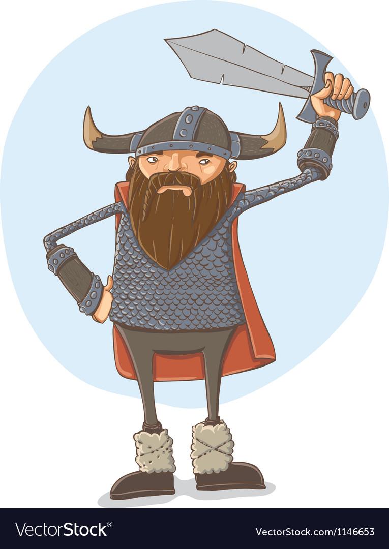 Cartoon viking vector | Price: 1 Credit (USD $1)