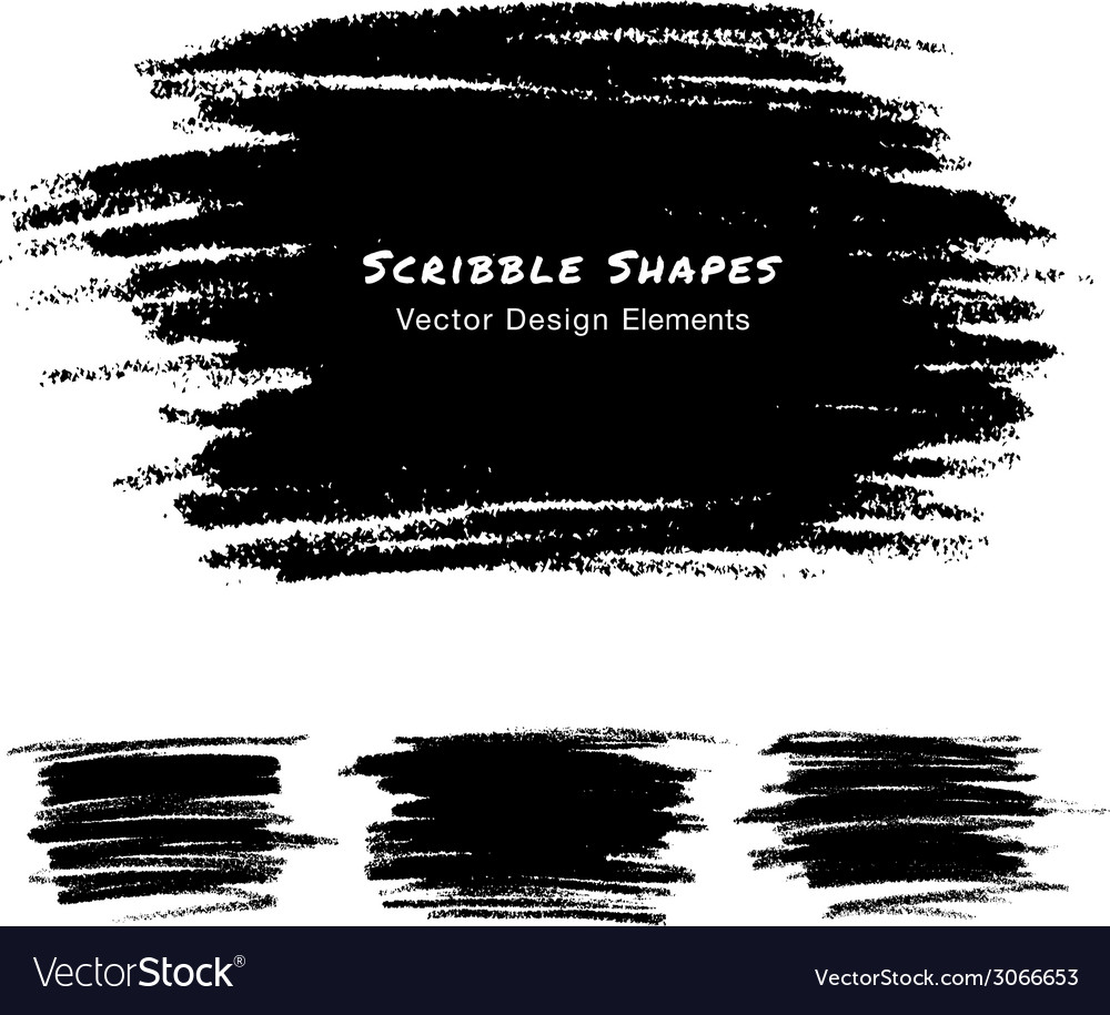 Colorful scribble stains hand drawn in pencil logo vector | Price: 1 Credit (USD $1)