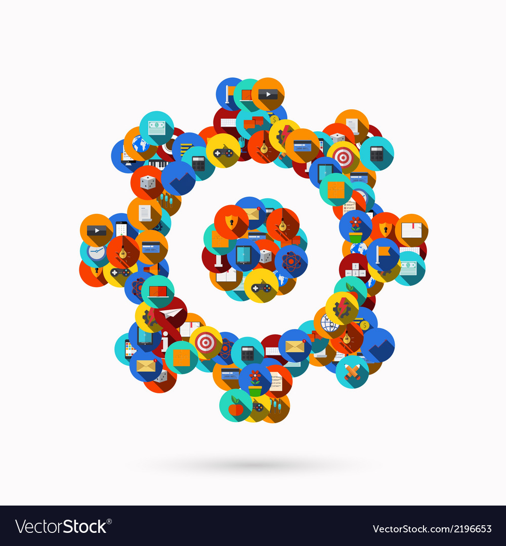 Creative mechanism icon background vector | Price: 1 Credit (USD $1)