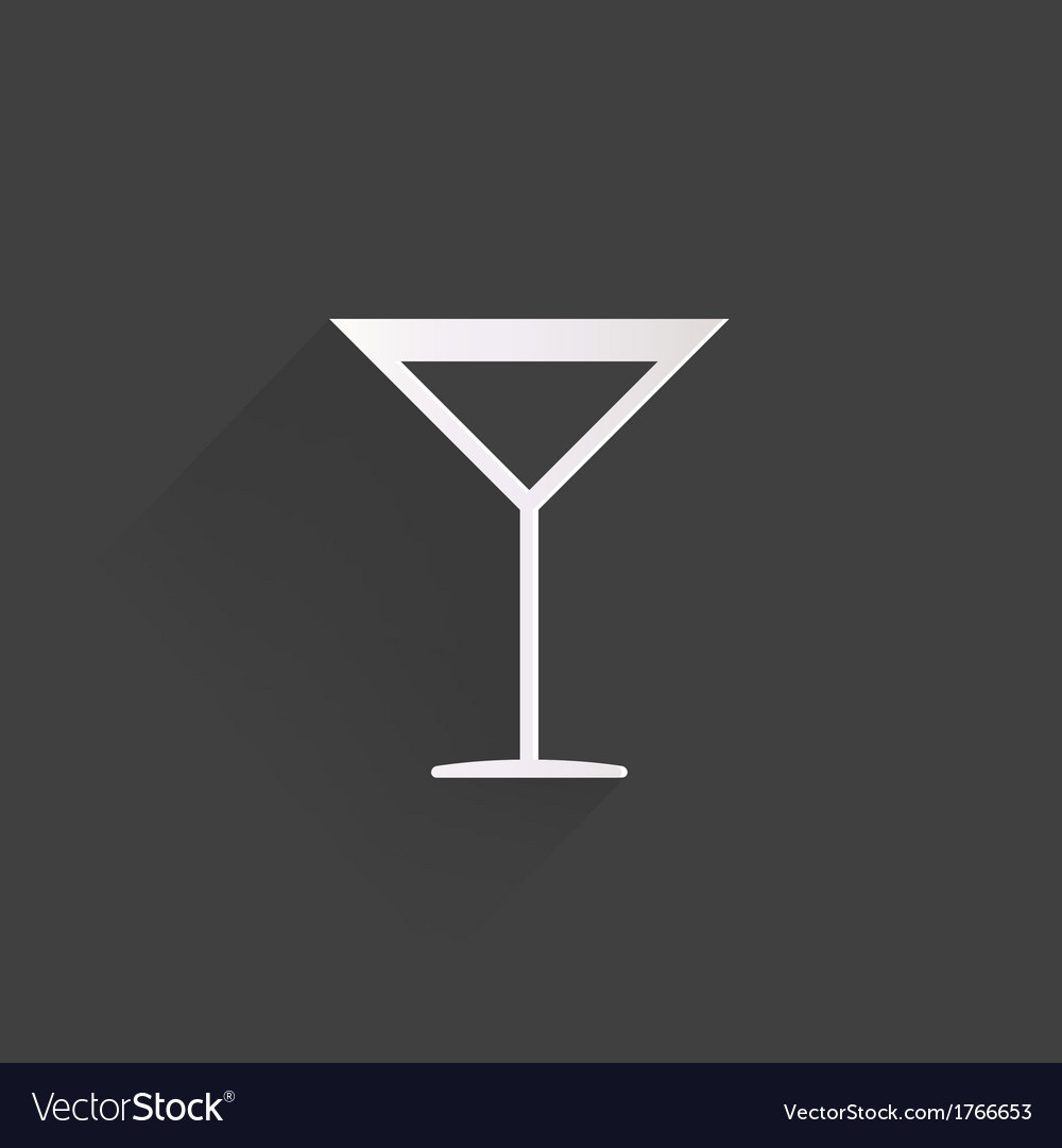 Drink glass web icon vector | Price: 1 Credit (USD $1)