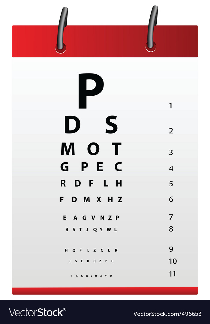 Eye testing board vector | Price: 1 Credit (USD $1)