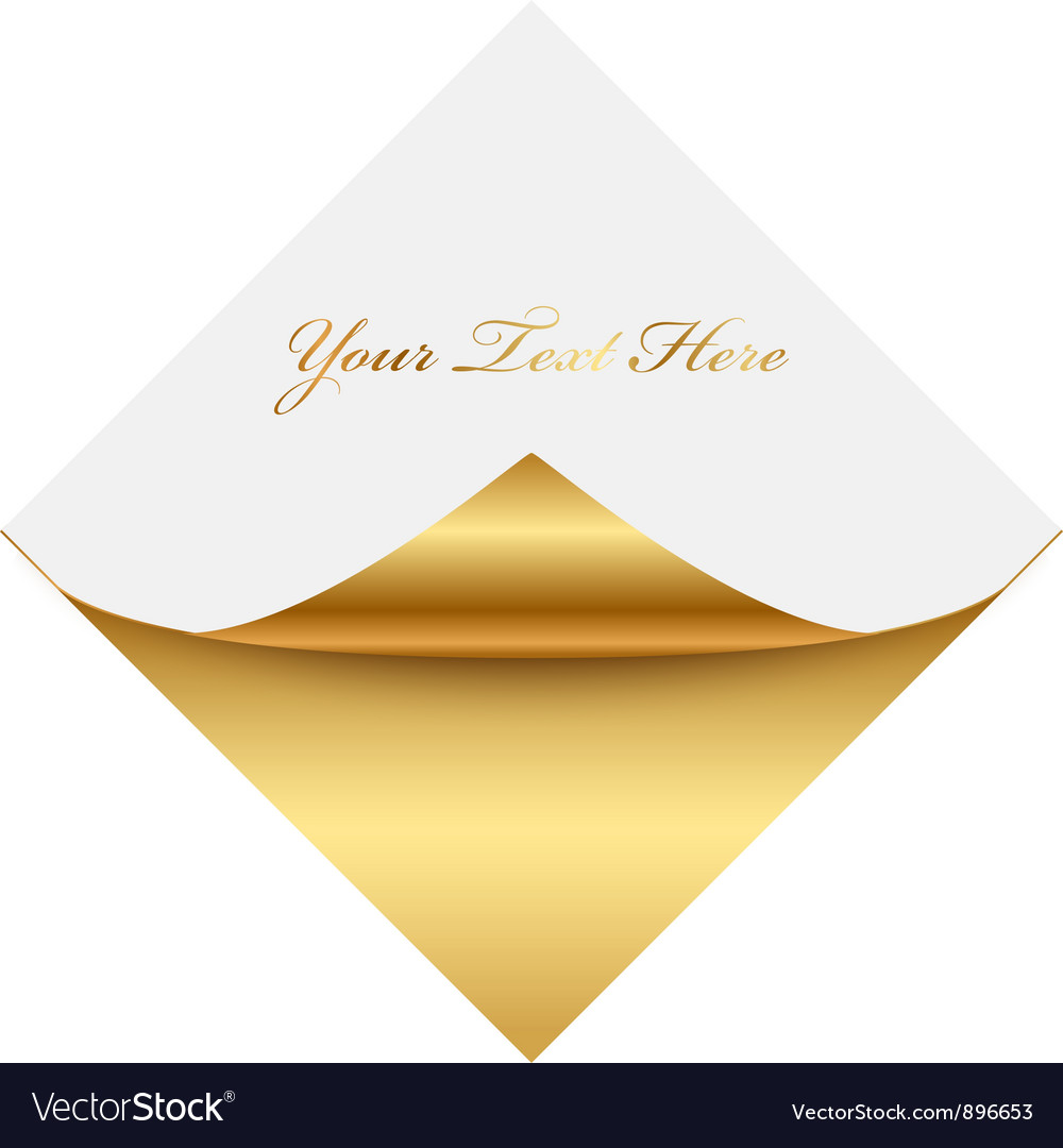 Gold gold square memo vector | Price: 1 Credit (USD $1)