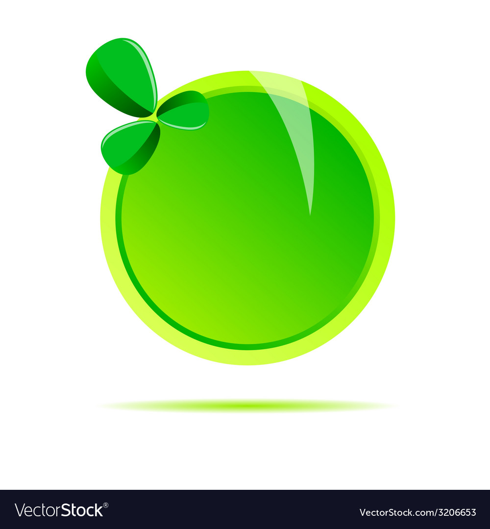 Green circle with leaf vector | Price: 1 Credit (USD $1)