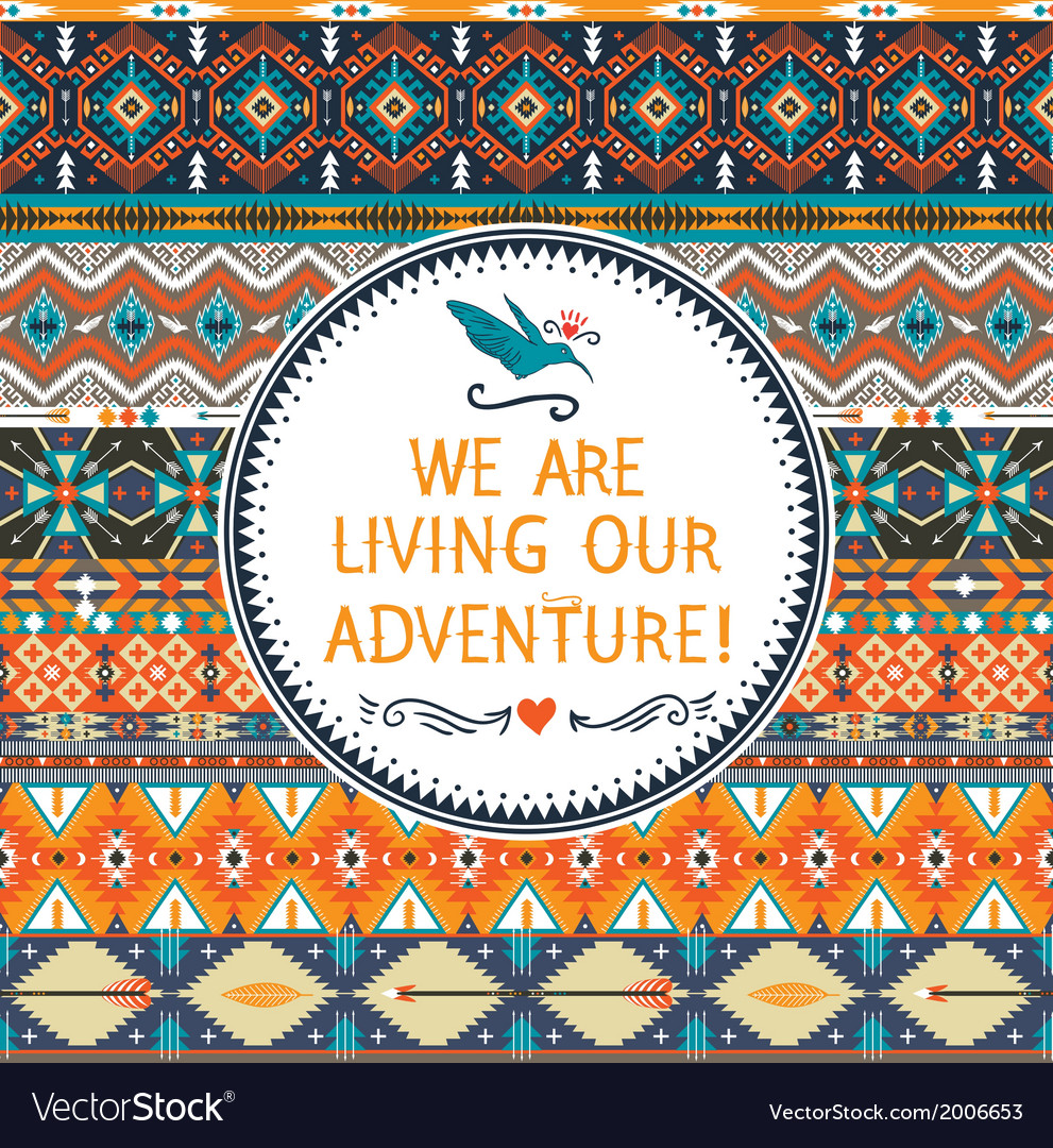 Hipster seamless colorful tribal pattern with vector   Price: 1 Credit (USD $1)