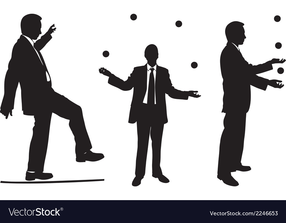 Jugglers in suits vector | Price: 1 Credit (USD $1)