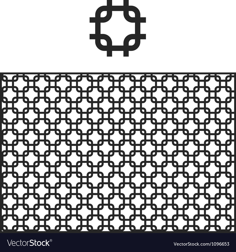 Lattice geometric pattern swatch vector | Price: 1 Credit (USD $1)