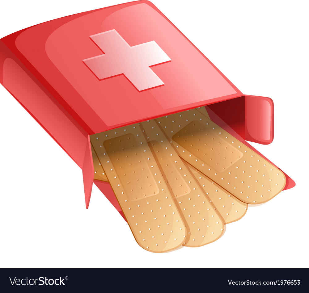 Plasters in a red box vector | Price: 1 Credit (USD $1)